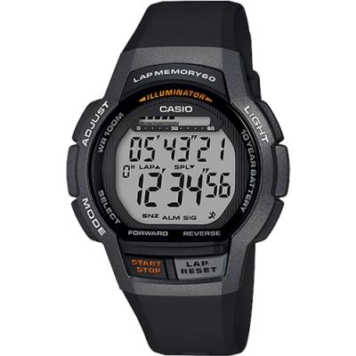 CASIO 卡西歐 運動慢跑手錶-黑(WS-1000H-1A)