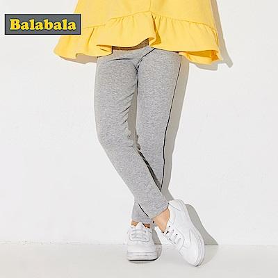 Balabala巴拉巴拉-側邊壓線合身彈性褲-女(2色)