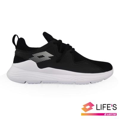 LOTTO 義大利 女  DAY RIDE 輕量跑鞋 (黑/白)