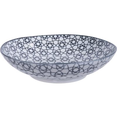 《Tokyo Design》瓷製深餐盤(花繩黑21cm)