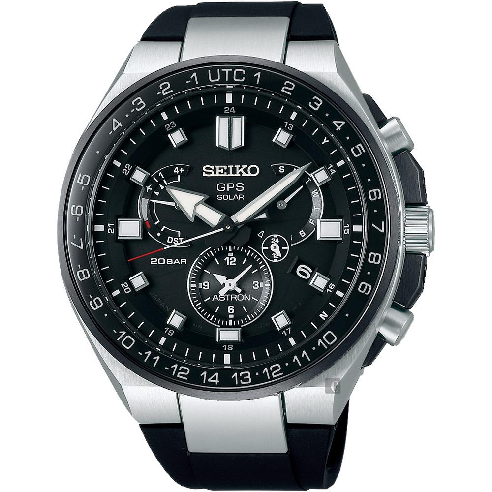 (無卡分期24期)SEIKO精工 ASTRON 雙時區鈦GPS衛星定位手錶(SSE169J1)