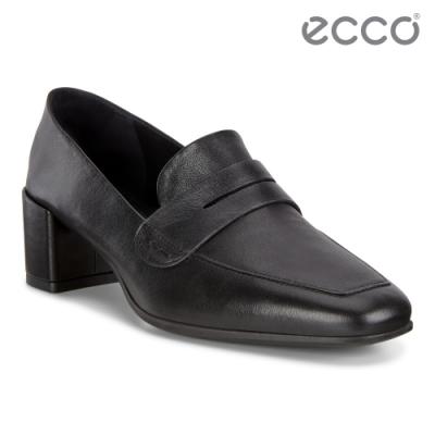 ECCO SHAPE 35 SQUARED 現代尖頭優雅方跟高跟鞋 女鞋-黑