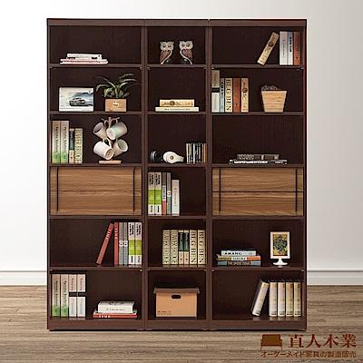 日本直人木業-NOANA經典二個2抽一個開放160CM書櫃組(160x32x195cm)