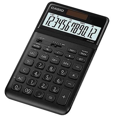 CASIO 12位元香檳機系列桌上型計算機(JW-200SC-BK)黑松露