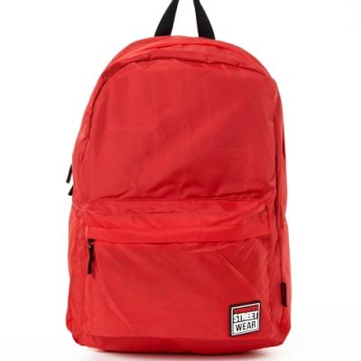 VISION STREET WEAR 潮牌時尚多色運動休閒雙肩後背包 紅 VB2031R