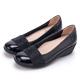 CHOiCE 質感牛皮水鑽楔型 女 中跟鞋 黑色 product thumbnail 1