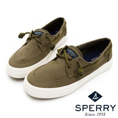 SPERRY CREST BOAT 輕量休閒帆船鞋(女)-橄欖綠