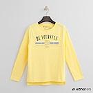 Hang Ten - 女裝 - 有機棉 標語T恤 - 黃