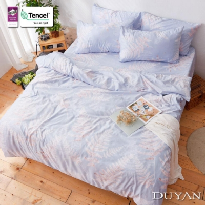 DUYAN竹漾-3M吸濕排汗奧地利天絲-雙人床包被套四件組-靜曉葉歌