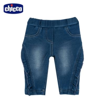 chicco-To Be BG-荷葉水洗針織牛仔長褲