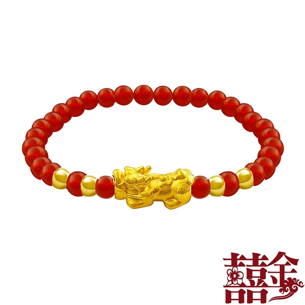囍金 貔貅 千足黃金手鍊(11款任選) product image 1