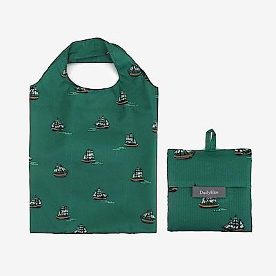 Dailylike 摺疊口袋購物袋S-06航行