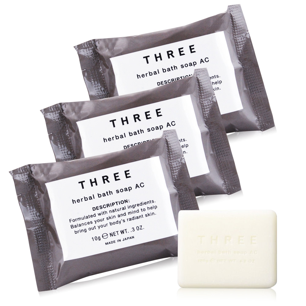 THREE 舒活沐浴皂10gX3