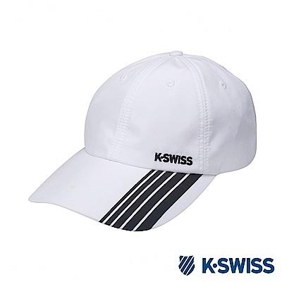 K-SWISS AT Cap防潑水運動帽-白