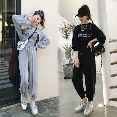 【韓國K.W.】(預購) 流行穿搭休閒百搭三件套套裝褲