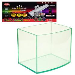 《台製》高透析海灣5mm空缸(一尺)+《水族先生》遙控式LED多色薄型夾燈(29cm)