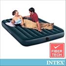 INTEX經典雙人加大(fiber-tech)充氣床墊(綠絨)-寬152cm(64734)
