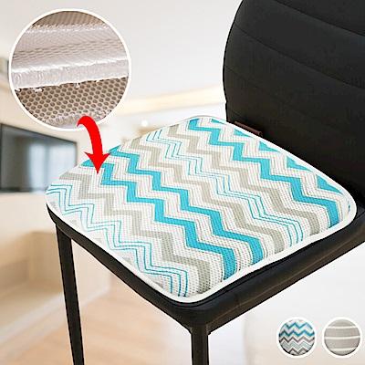 (2入)EZlife 蜂巢3D高彈清涼透氣防滑坐墊(贈多彩氛圍燈)