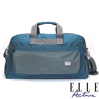 ELLE Active Fish Net 漁網系列-旅行袋-藍綠色