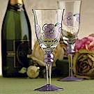 Madiggan 玫瑰系列手工彩繪高腳杯(紫色兩入禮盒)