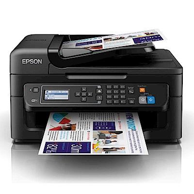 [無卡分期12期]EPSON WF-2631 八合一WiFi雲端傳真複合機+四色標準型墨水