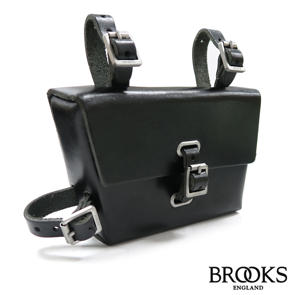 英國BROOKS B4 Leather Frame Bag手工製牛皮上管包-黑色