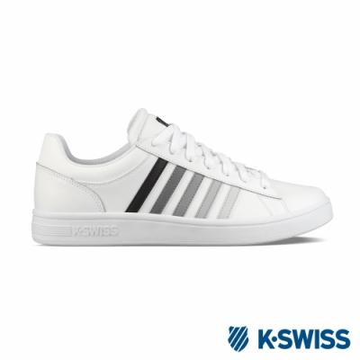 K-SWISS Court Winston休閒運動鞋-男-白/黑/灰