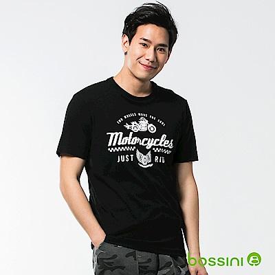 bossini男裝-印花短袖T恤53黑