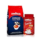 LAVAZZA 經典奶香咖啡豆(1000g)+每日咖啡粉(250g)