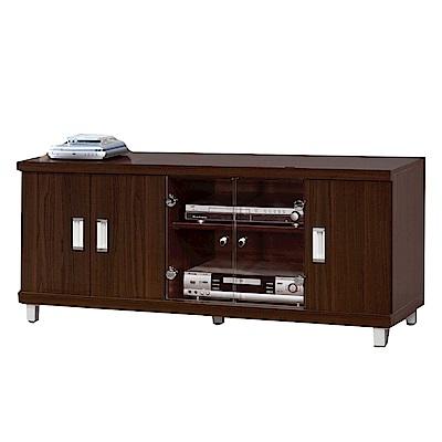 綠活居 舒莉時尚4.4尺五門電視櫃/視聽櫃-132x45x51cm-免組
