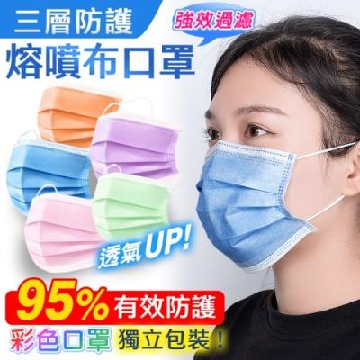成人三層熔噴防護布口罩(35片/1盒)x3