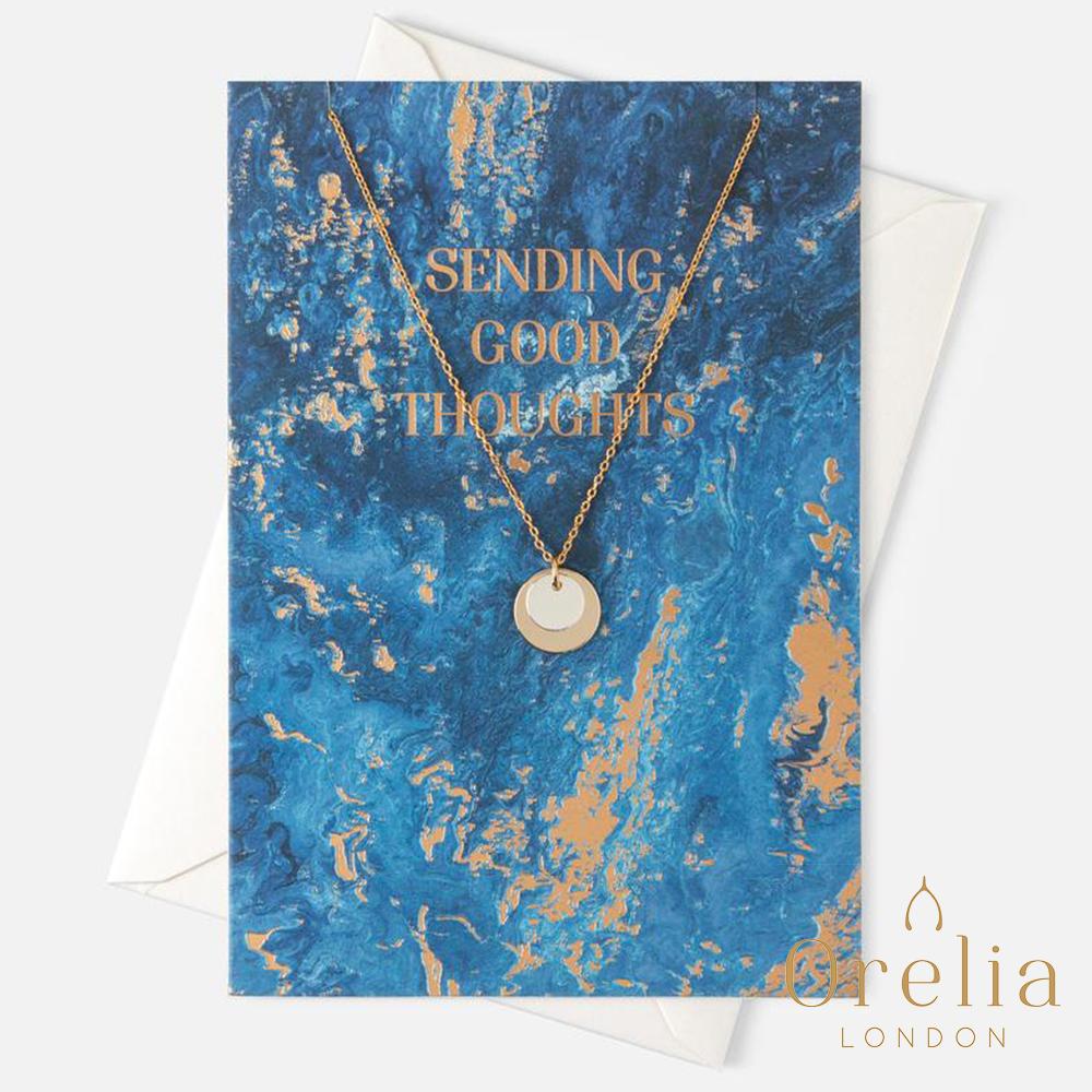 Orelia 英國倫敦 簡約雙圓片層次鍍金項鍊
