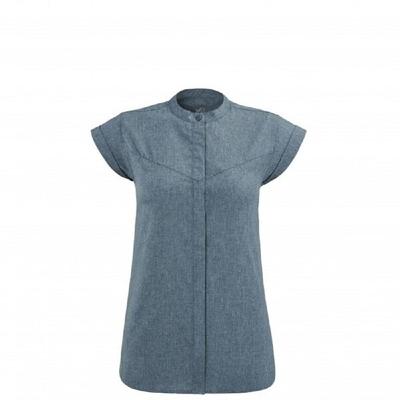 MILLET 女 ASTI SS 短袖快排襯衫 靛藍-MIV86378737