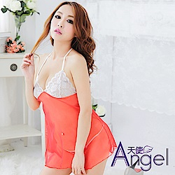 Angel 露乳誘惑睡衣網紗吊帶裙 BP016 橘