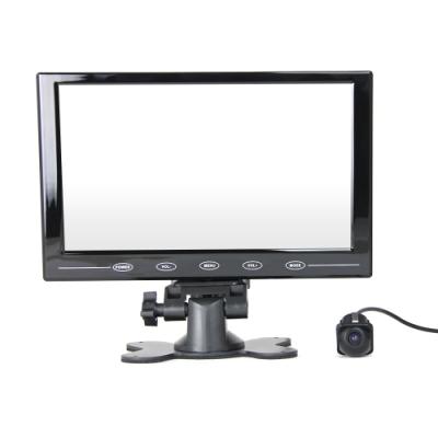 9吋顯示器螢幕+小草帽ZA905 崁入式倒車顯影 孔徑21mm 車用鏡頭-快