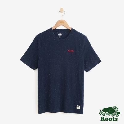 男裝Roots-  結粒紗短袖T恤-藍