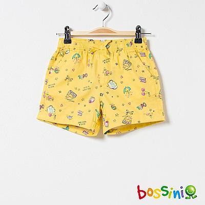 bossini女童-印花輕便短褲03黃