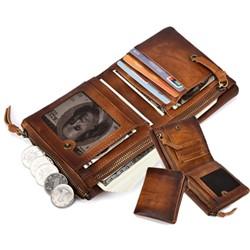 玩皮工坊-真皮頭層牛皮復古男士皮夾皮包錢夾錢包短夾男夾LH608