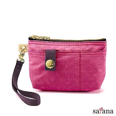 satana - Soldier 實用拉鍊化妝包/零錢包 - 霧紫紅
