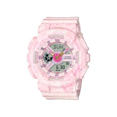 CASIO卡西歐 BABY-G 甜美 冰淇淋 莓果粉 BA-110PI-4A_43.4mm