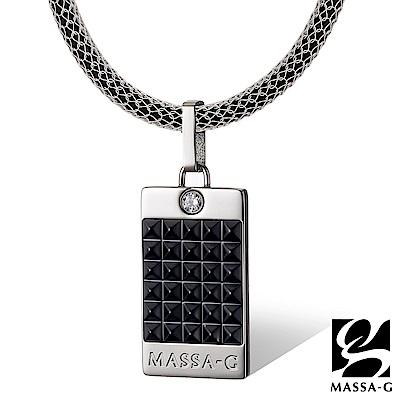 MASSA-G 黑旋風龐克純鈦墬搭配 X1 4mm超合金鍺鈦項鍊