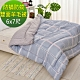 LooCa 法國防蹣防蚊雙面時尚羊毛冬被1入-藍格 product thumbnail 2