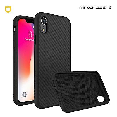犀牛盾iPhone XR Solidsuit碳纖維防摔背蓋手機 - 黑色