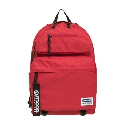 【OUTDOOR】繽紛原色-14吋筆電後背包-紅色 OD201104RD