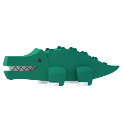 【HALFTOYS 哈福玩具】3D動物樂園:CROCODILE 鱷魚 STEAM教育玩具