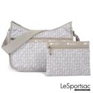 LeSportsac - Standard側背水餃包/流浪包-附化妝包 (千鳥格/米)