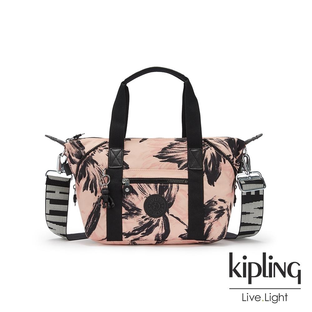 Kipling 珊瑚花潑墨手提側背包-ART MINI