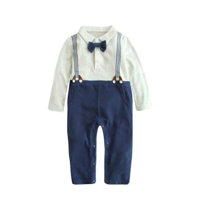 Baby童衣 紳士領結假吊帶連身衣 61093