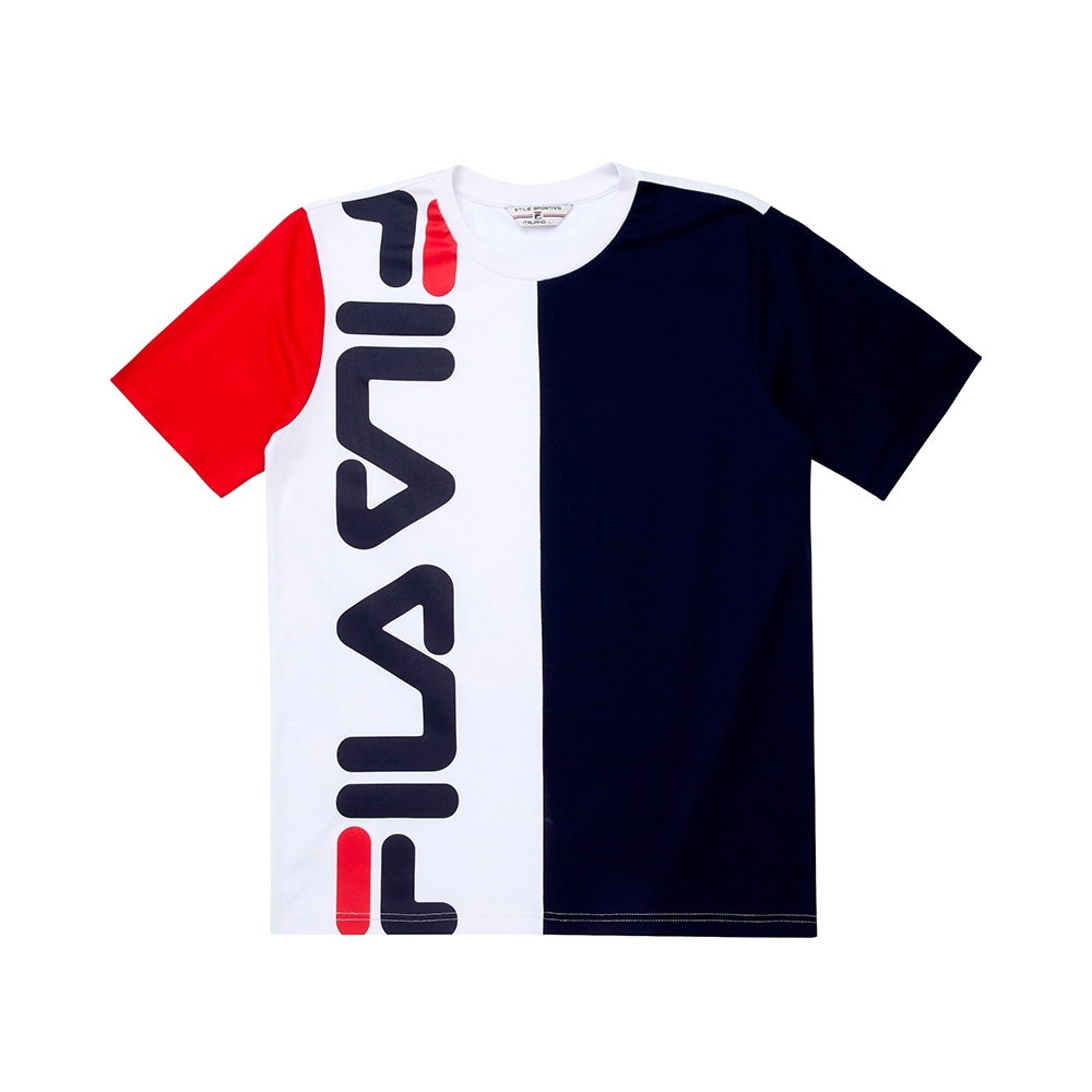 FILA #日潮攻略首部曲 短袖圓領T恤-白色 1TEU-1409-WT