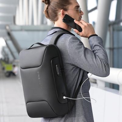 leaper 簡潔時尚立體防盜鎖USB充電後背包 共4色